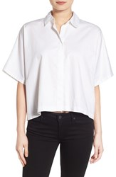 Kendall Kylie Women's Back Lace Up Shirt