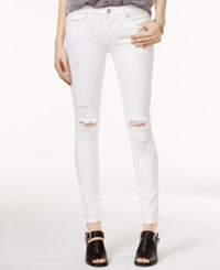 True Religion Halle Ripped Skinny White Wash Jeans True Destroy