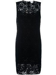 Dkny Floral Lace Shift Dress Black