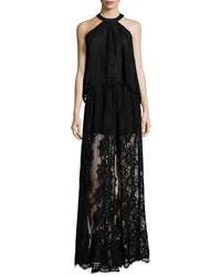 Alexis Sleeveless Lace Top Black