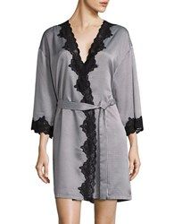 Lauren Ralph Lauren Signature Collection Satin Wrap Robe Black