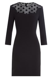 Mary Katrantzou Dress With Sheer Polk Dot Inserts Black