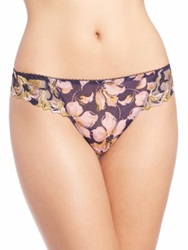 Aubade Jardin Des Delices Printed Mesh Tanga Blue