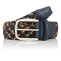 Barneys New York Men's Braided Elastic Belt No Color