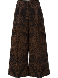 Simone Rocha Ankle Length Tailored Trouser With Turn Up Black