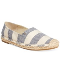 Rampage 143 Girl Island Espadrille Flats Women's Shoes Denim Natural