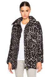 Moncler Torcelle Leopard Print Coat In Animal Print Black