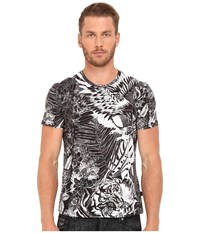 Just Cavalli Slim Fit Jungle Tattoo Printed T Shirt Black Variant Men's T Shirt Multi