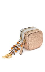Anya Hindmarch Double Zip Coin Purse Circulus In Salmon Metallic