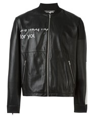 Mcq By Alexander Mcqueen Urban Poetry Print Jacket Black