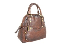 Frye Elaine Vintage Back Pack Dark Brown Antique Pull Up Satchel Handbags