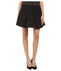 Marc By Marc Jacobs Solid Poly Faille Gathered Skirt Black Women's Skirt