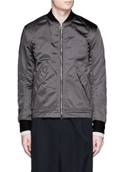 Tim Coppens Lace Up Detail Bomber Jacket Grey