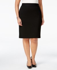 Alfani Plus Size Classic Pencil Skirt Only At Macy's Deep Black