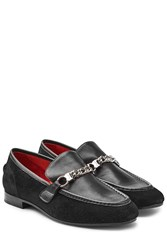Rag And Bone Suede Leather Loafers Black