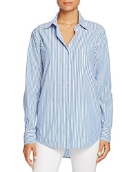 Scotch And Soda Striped Boyfriend Shirt Blue White Stripe