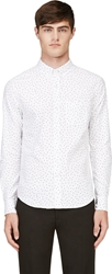 Band Of Outsiders White And Black Polka Dot Button Down Shirt