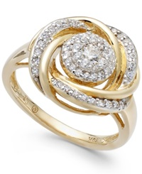 Wrapped In Love 14K Gold Diamond Knot Ring 1 2 Ct. T.W.