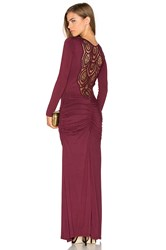 Sky Tamotsu Dress Burgundy