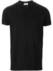 Saint Laurent Band Collar Polo Shirt Black