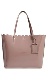 Kate Spade New York 'Lily Avenue Patent Carrigan' Leather Tote Grey Porcini Rose Taupe