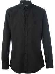 Dolce And Gabbana Embroidered Logo Shirt Black