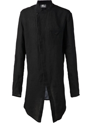 Lost And Found Oversized Asymmetrical Shirt Black
