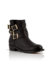 Rupert Sanderson Leather Parnassus Ankle Boots