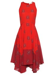 A.L.C. Elisa Crest Print Silk Crepe Dress