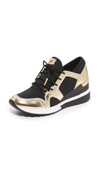 Michael Michael Kors Scout Trainer Sneakers Black Pale Gold
