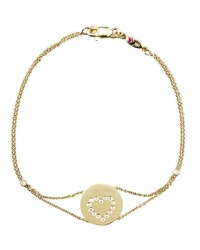 Exclusive Pave Heart Medallion Bracelet Roberto Coin Gold