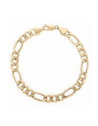 Lord And Taylor 14K Yellow Gold Figaro Chain Bracelet