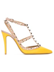 Valentino Garavani 'Rockstud' Pumps Yellow And Orange