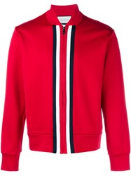 Gucci Cotton Track Jacket Red Navy White Black