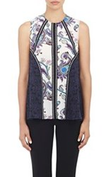 Mary Katrantzou Chiffon Sleeveless Top White