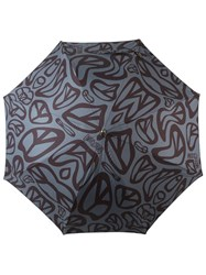 Moschino Peace Sign Intarsia Umbrella Black