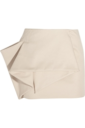 Marc By Marc Jacobs Folded Stretch Cotton Blend Mini Skirt