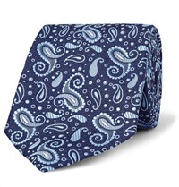 Turnbull And Asser 8Cm Paisley Silk Jacquard Tie Blue