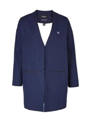 Maison Scotch Boxy Lightweight Blazer Navy