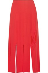 Opening Ceremony Ponte Midi Skirt Red