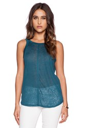 Chaser Scoop Back Tank Teal