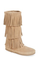 Women's Minnetonka 3 Layer Fringe Boot