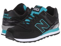 New Balance Ml574 Black Teal Men's Shoes