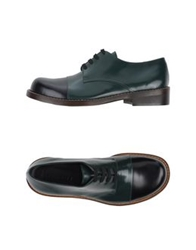Marni Lace Up Shoes Dark Green