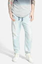 Azul Five Pocket Denim Jogger Pants Blue