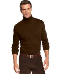 John Ashford Big And Tall Long Sleeve Turtleneck Interlock Shirt Sable
