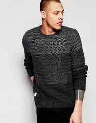 Native Youth Cut And Sew Gradient Knit Jumper Grey