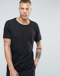 Weekday Dark Raw Edge T Shirt 09 090 Black