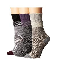 Smartwool Popcorn Cable 3 Pack Multicolor Women's Crew Cut Socks Shoes