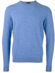 Z Zegna Crew Neck Jumper Blue